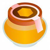 Wildflower Honey Jar Icon. Isometric Of Wildflower Honey Jar Vector Icon For Web Design Isolated On  poster