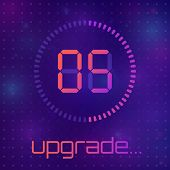 Loading Process Screen. Application Update. System Software Upgrade Concept, Loading Bar. The Concep poster