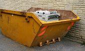 Copier In Dumpster