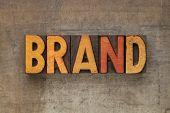 Brand Word In Letterpress Type poster