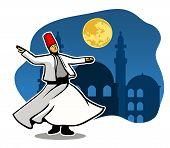 Darvish Do Spiritual Dancing In The Moonlight. poster