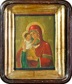Old Slavonic Icon Of Virgin Mary