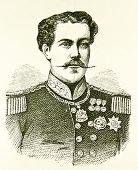 Porträt von König von Portugal Dom Luis Ii. Illustration von Alwin Zschiesche, veröffentlicht am