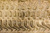 Bajorrelieve de Pandava ejército Angkor Wat