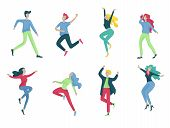Collection Of Dancers. Men And Women Performing Dance At School, Studio. Male And Female Characters. poster