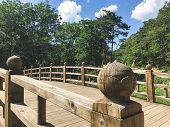 The Small Bridge In Seoraksan National Park. South Korea poster