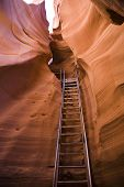 Ladder In Antelope Canyon