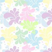 light decorative seamless pattern with colourful leaves