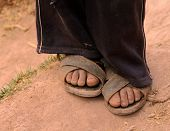 Feet Of Boy In Peru