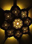 Lotus Light Ceiling At Erawan Museum
