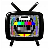 Tv - Color Test Pattern - Test Card, Vector