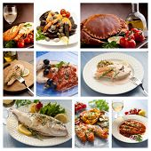 large collection of cooked fish