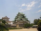 stock photo of shogun  - Ancient Nagoya Castle is one of the four major castles of Japan - JPG