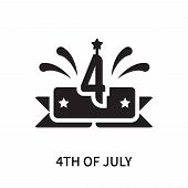 4th Of July Icon Isolated On White Background. 4th Of July Icon Simple Sign. 4th Of July Icon Trendy poster