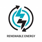 Renewable Energy Icon Isolated On White Background. Renewable Energy Icon Simple Sign. Renewable Ene poster
