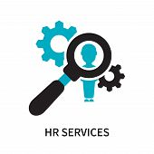 Hr Services Icon Isolated On White Background. Hr Services Icon Simple Sign. Hr Services Icon Trendy poster