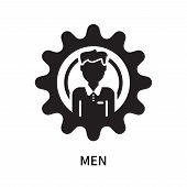 Men Icon Isolated On White Background. Men Icon Simple Sign. Men Icon Trendy And Modern Symbol For G poster