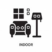 Indoor Icon Isolated On White Background. Indoor Icon Simple Sign. Indoor Icon Trendy And Modern Sym poster