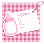 Pink Baby Invitation Shower Card
