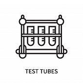 Test Tubes Icon Isolated On White Background. Test Tubes Icon Simple Sign. Test Tubes Icon Trendy An poster