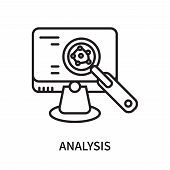 Analysis Icon Isolated On White Background. Analysis Icon Simple Sign. Analysis Icon Trendy And Mode poster