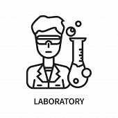 Laboratory Icon Isolated On White Background. Laboratory Icon Simple Sign. Laboratory Icon Trendy An poster