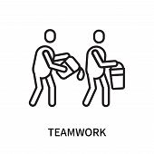 Teamwork Icon Isolated On White Background. Teamwork Icon Simple Sign. Teamwork Icon Trendy And Mode poster