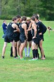 Men's Cross Country pre-race pep talk