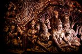 The Santuary Of Truth Wooden Sculpture Thailand