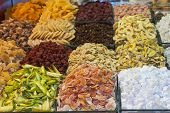 Dried Fruits At A Market Stall