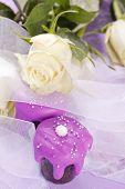 pink wedding chocolate tartlet