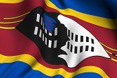 Rendered Swazi Flag