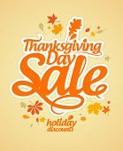 Thanksgiving Day sale design template.