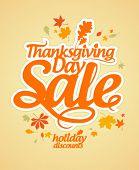 Plantilla de diseño de la venta de día de acción de gracias.