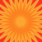 Orange Star Burst