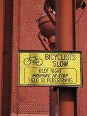 Bicyclists Slow
