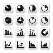 Gráfico de botões gráfico preto para infográficos
