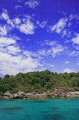 Clouded Blue Sky Above Similan Islands, Thailand