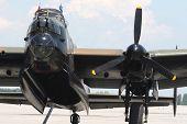 Avro Lancaster Bomber. Front Wiev.