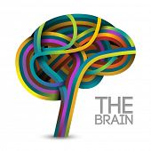 Creative concept of the brain, vector