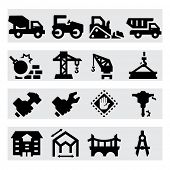 stock photo of truck-stop  - Heavy construction icons - JPG