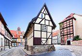 Alte Straße in Quedlinburg, Deutschland