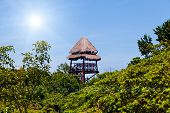 Surveillance Tower In The Caribbean Forest