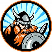 Viking Raider Barbarian Warrior Retro