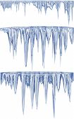 Blue thawing icicles