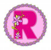 Alphabet Daisy Chain R