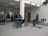 stock photo of sweatshop  - health club gym - JPG