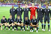 England National Football Team Pose For A Group Photo