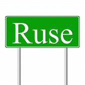 Ruse green road sign