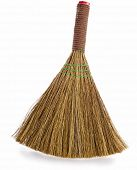 stock photo of dust bunny  - broom isolated on white background - JPG